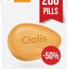 Generic Cialis 20 mg x 200 Tabs