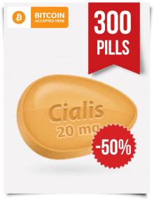 Tadalafil Online 20 mg x 300 Tabs