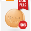 Generic Levitra 20 mg x 200 Tabs