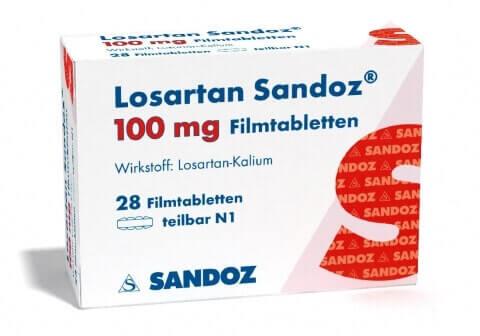 Losartan pills