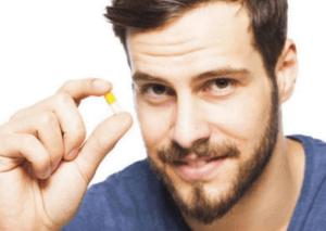 Man takes capsule